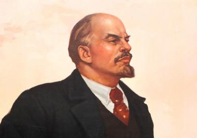 Lenin croppa fra plakat