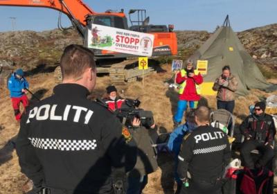 Vinmølle protester Frøya